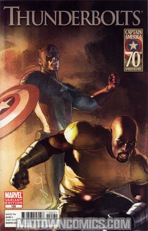 Thunderbolts #155 Incentive Gerald Parel Captain America 70th Anniversary Variant Cover