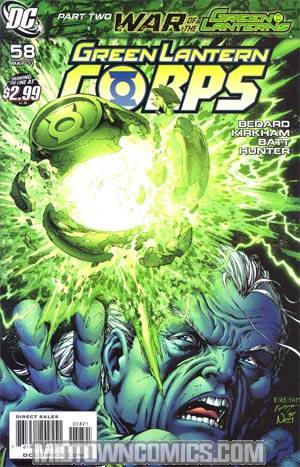 Green Lantern Corps Vol 2 #58 Cover B Incentive Tyler Kirkham Variant Cover (War Of The Green Lanterns Part 2)