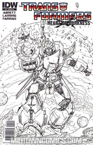 Transformers Heart Of Darkness #1 Incentive Ulises Farinas Line Art Variant Cover