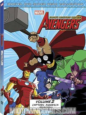 Marvel The Avengers Earths Mightiest Heroes Vol 2 Captain America Reborn DVD