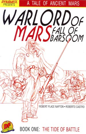 Warlord Of Mars Fall Of Barsoom #1 Cover E DF Exclusive Joe Jusko Martian Red Sketch Cover