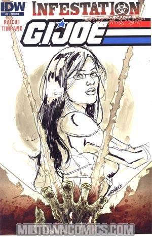GI Joe Infestation #1 Incentive Alejandro Germanico Hand-Drawn One-Of-A-Kind Sketch Variant Cover