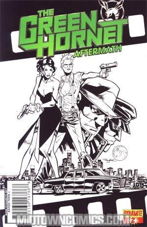 Green Hornet Aftermath #2 Cover B Incentive Nigel Raynor Black & White & Green Cover