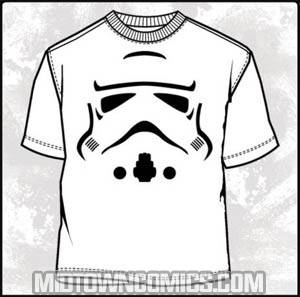Star Wars Super Trooper White T-Shirt Large