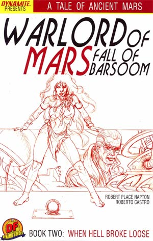 Warlord Of Mars Fall Of Barsoom #2 DF Exclusive Joe Jusko Martian Red Cover