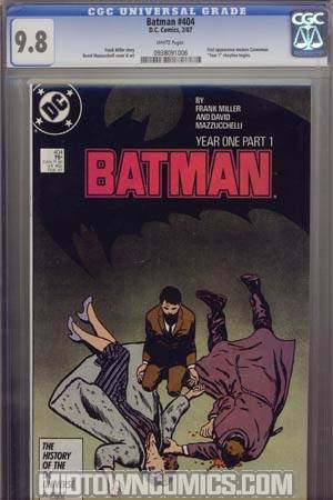 Batman #404 Cover E CGC 9.8