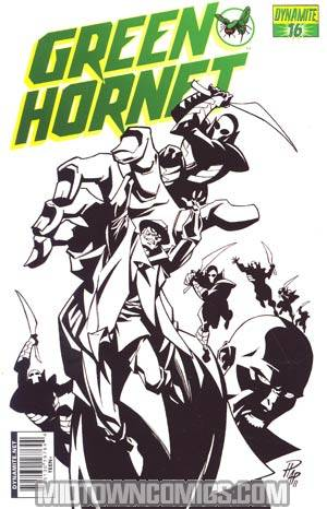 Kevin Smiths Green Hornet #16 Cover D Incentive Phil Hester Black & White & Green Cover