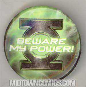 Green Lantern Movie Pin - Beware My Power! - FREE - Limit 1 Per Customer