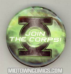 Green Lantern Movie Pin - Join The Corps! - FREE - Limit 1 Per Customer