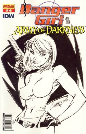 Danger Girl And The Army Of Darkness #2 Cover E Incentive J Scott Campbell Sketch Cover