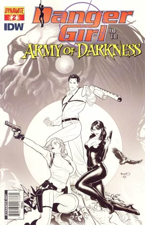 Danger Girl And The Army Of Darkness #2 Cover F Incentive Paul Renaud Sketch Cover