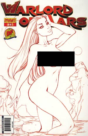 Warlord Of Mars #13 DF Exclusive Ale Garza Martian Red Risque Cover