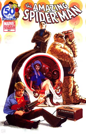 Amazing Spider-Man Vol 2 #667 Cover B Variant Fantastic Four 50th Anniversary Cover (Spider-Island Tie-In)