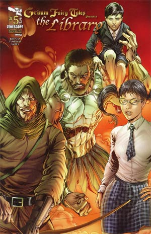 Grimm Fairy Tales Presents The Library #5 Cover A Marat Mychaels