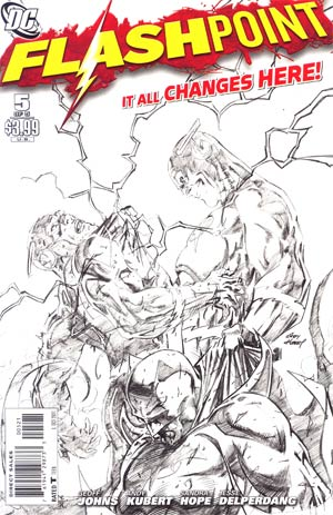 Flashpoint #5 Cover B Incentive Andy Kuber Sketch Cover