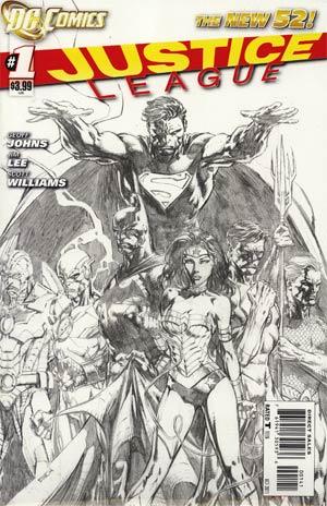 Justice League Vol 2 #1 Incentive David Finch Sketch Cover