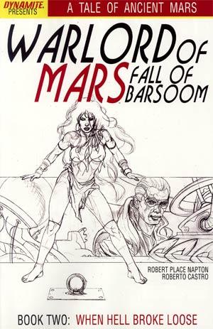 Warlord Of Mars Fall Of Barsoom #2 Incentive Joe Jusko Sketch Cover