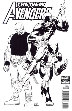 New Avengers Vol 2 #16 Incentive Marvel Architects Sketch Cover (Fear Itself Tie-In)