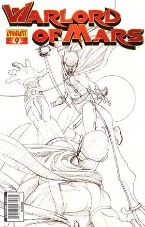 Warlord Of Mars #9 Incentive Joe Jusko Sketch Cover