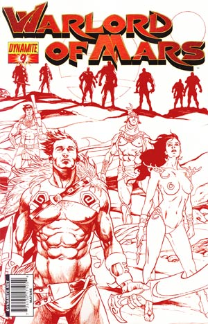 Warlord Of Mars #9 Incentive Stephen Sadowski Martian Red Cover