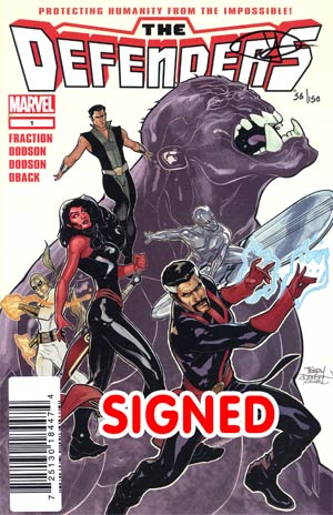Defenders Vol 4 #1 Cover G DF Signed By Terry Dodson