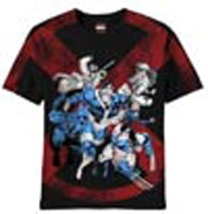 X-Men 6 Exes Previews Exclusive Black T-Shirt Large