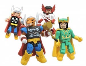 Marvel Minimates The Mighty Thor Stormbreaker AFX SDCC 2011 Exclusive 4-Pack Box Set
