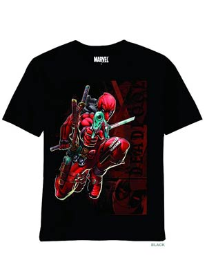 Deadpool Wade Black T-Shirt Large