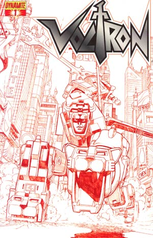 Voltron #1 Cover G Incentive Sean Chen Fiery Red Cover