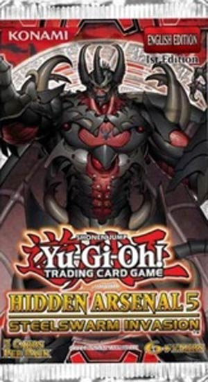 Yu-Gi-Oh Hidden Arsenal #5 Steelswarm Invasion Booster Pack