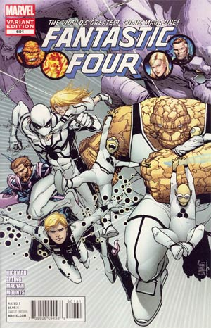 Fantastic Four Vol 3 #601 Cover B Incentive Connecting Variant Cover