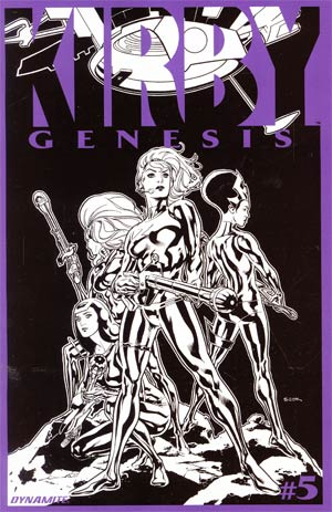 Kirby Genesis #5 Cover C Incentive Ryan Sook Black & White Cover