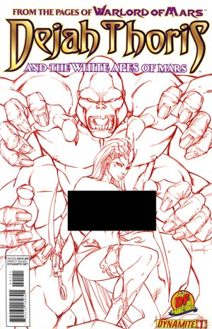 Dejah Thoris And The White Apes Of Mars #1 DF Exclusive Ale Garza Risque Red Cover