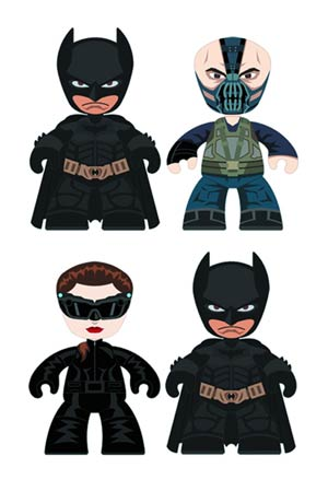 Batman The Dark Knight Rises Mini Mez-Itz 2-Pack Assortment Case