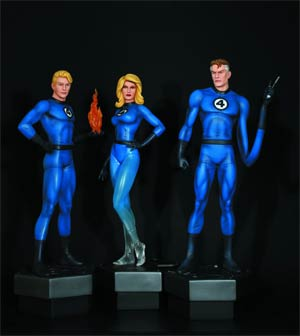 Fantastic Four 3-Pack Statue By Bowen