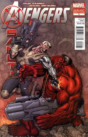 Avengers X-Sanction #3 Incentive Ian Churchill Variant Cover