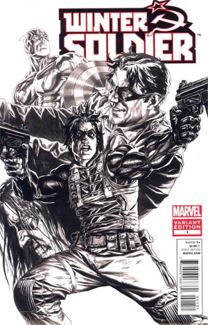 Winter Soldier #1 Cover D Incentive Lee Bermejo Sketch Cover (Shattered Heroes Tie-In)