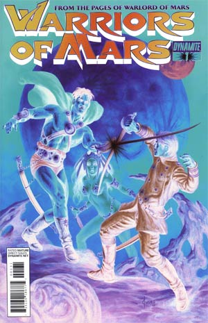 Warriors Of Mars #1 Incentive Joe Jusko Negative Art Cover