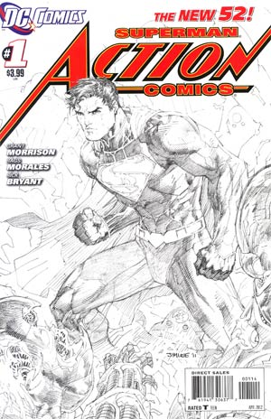 Action Comics Vol 2 #1 Cover G 4th Ptg Jim Lee Variant Sketch Cover