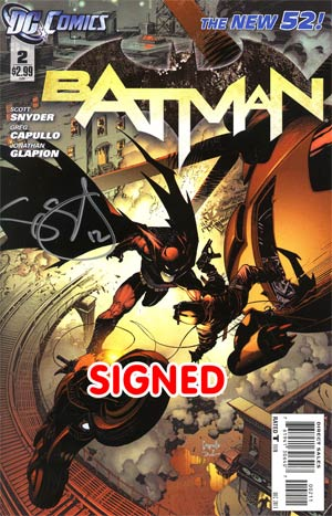 Batman Vol 2 #2 Cover D Regular Greg Capullo Cover Signed By Scott Snyder