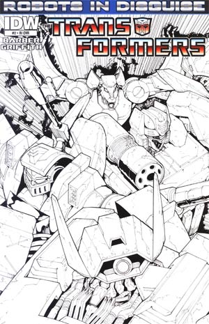 Transformers Robots In Disguise #2 Incentive Andrew Griffith Sketch Cover