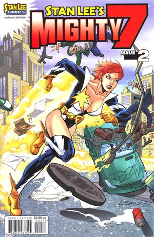 Stan Lees Mighty 7 #2 Cover B Variant Alex Saviuk Cover
