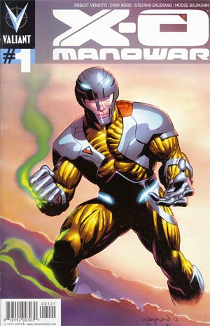 X-O Manowar Vol 3 #1 Cover B Variant Cary Nord Pullbox Cover