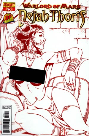 Warlord Of Mars Dejah Thoris #15 DF Exclusive Risque Red Cover