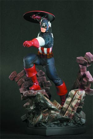Captain America Action Statue By Bowen
