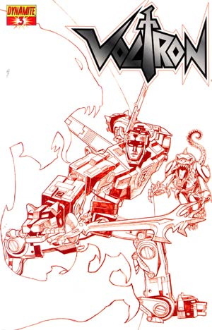 Voltron #3 Cover C Incentive Sean Chen Fiery Red Cover