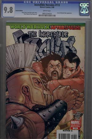 Incredible Hercules #113 Cover C Incentive Bob Layton Variant Cover CGC 9.8