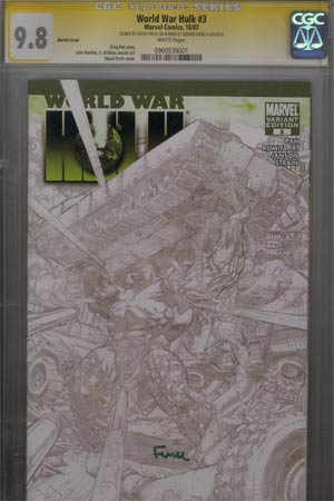 World War Hulk #3 Cover E Graham Crackers 2007 Baltimore Con Exclusive Cover Signed By David Finch CGC 9.8