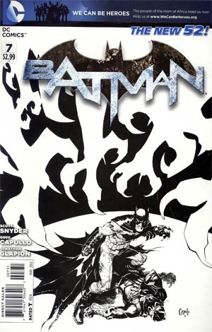Batman Vol 2 #7 Cover E Incentive Greg Capullo Sketch Cover