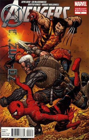 Avengers X-Sanction #4 Incentive Steve Skroce Variant Cover